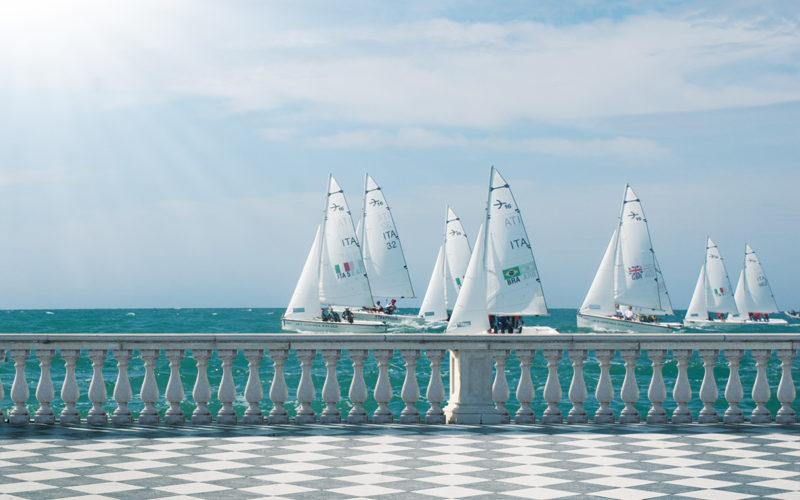 (Livorno. Settimana Velica Internazionale. Naval Academies Regatta)
